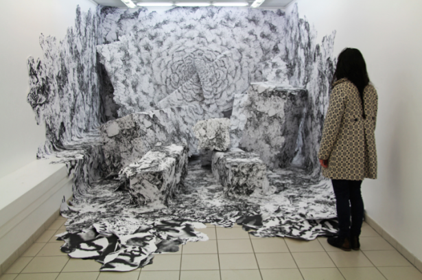 Installations de dessins