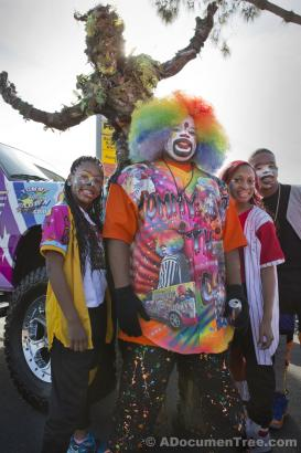 Tommy the Clown and dancers