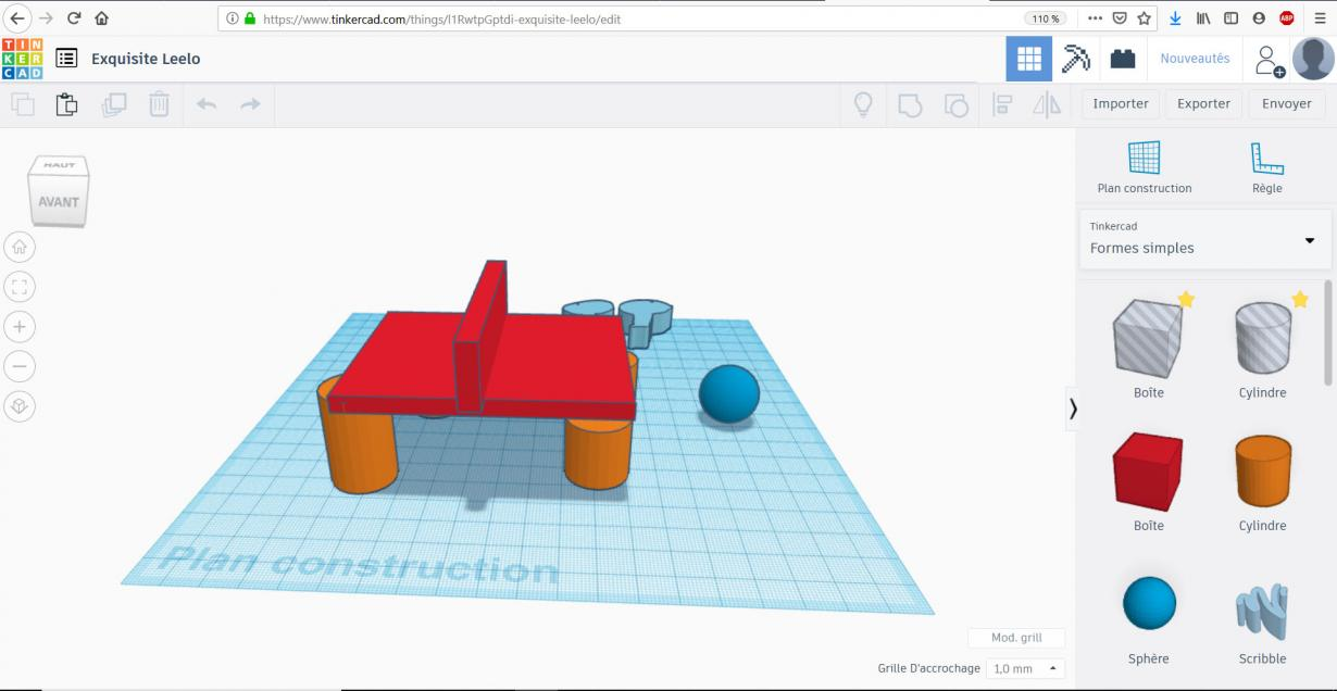 TinkerCAD et son interface