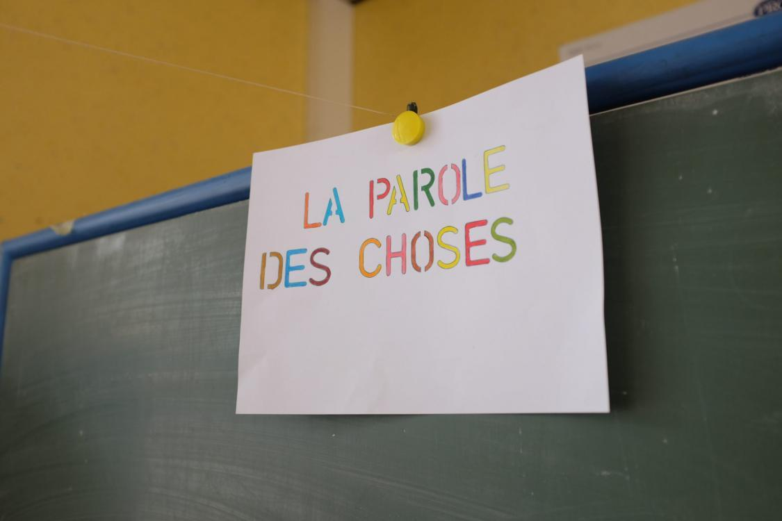 La parole des choses