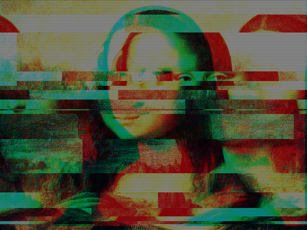 Exemple de Glitch art