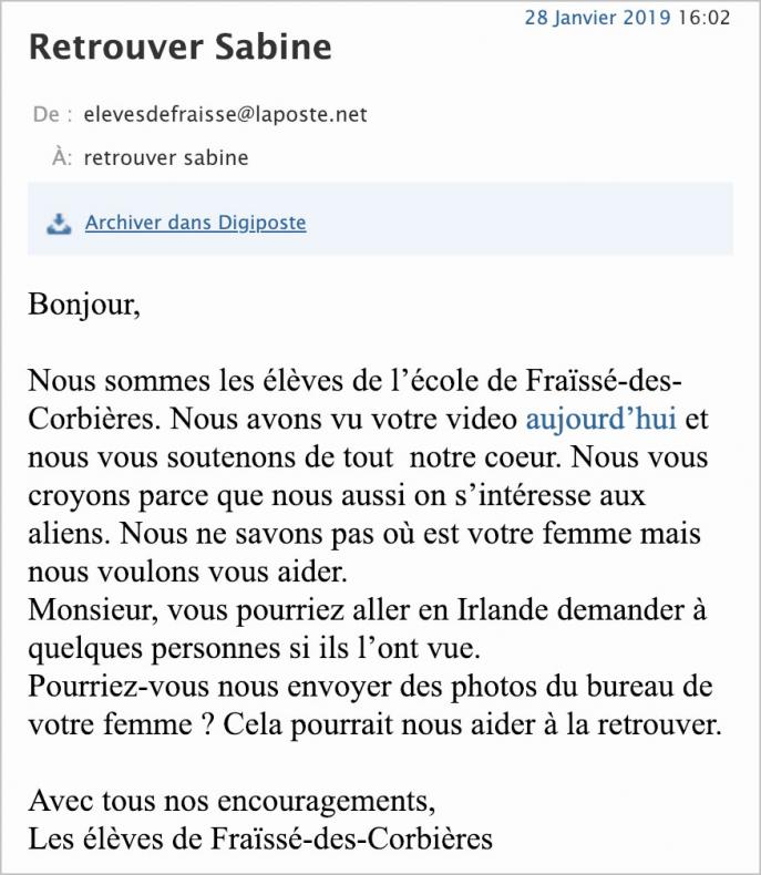 Mail à destination de l'ufologue