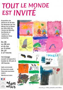 nina lechartier exposition residence remilly les marais
