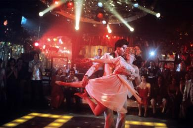 John Travolta in Saturday Night Fever, John Badham.