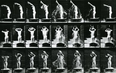 Eadweard Muybridge - Woman pouring a basin of water over her head