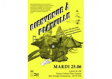 Affiche Exposition Playville